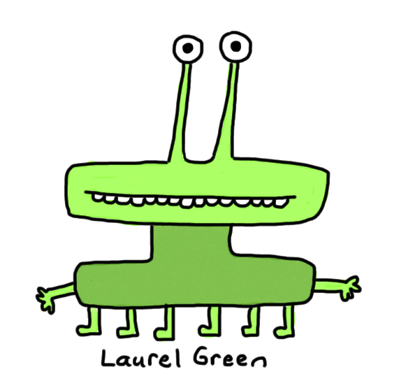 a drawing of a green thing with six legs