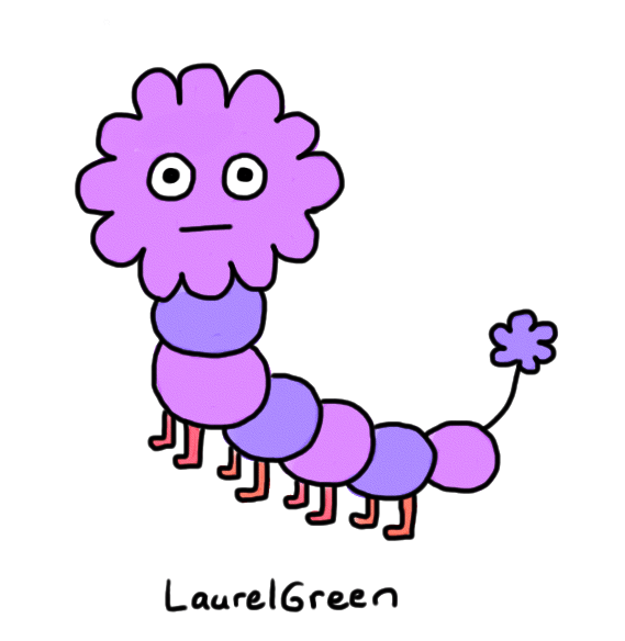 a drawing of a caterpillar thingy