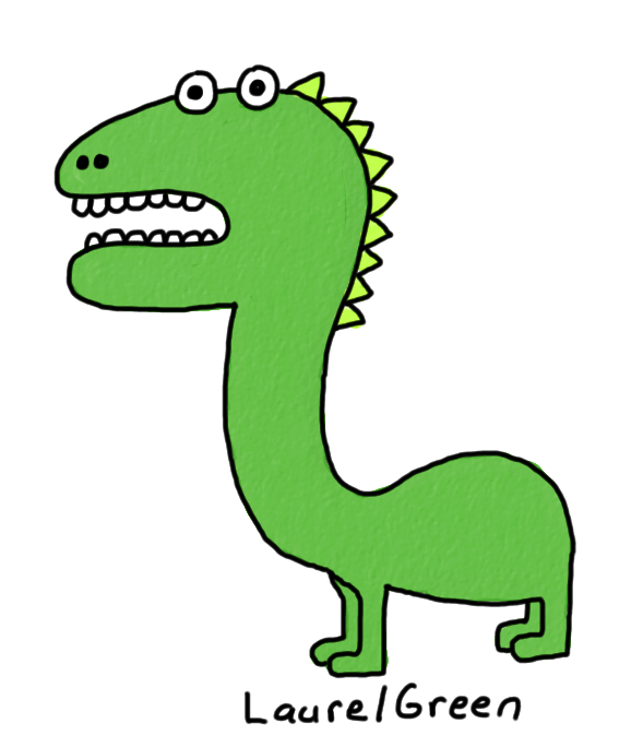 a drawing of a tailless dinosaur