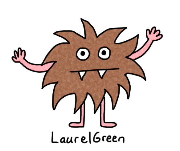 a drawing of a hairy monster
