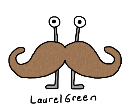 a drawing of an anthropomorphized moustache