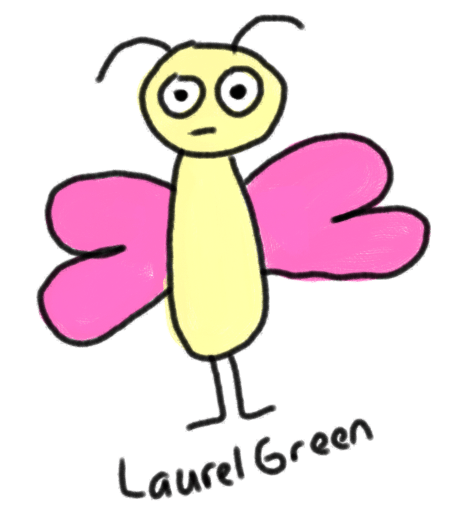 A cellphone drawing of a butterfly