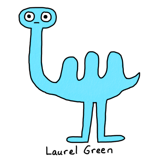 a drawing of a blue mutated camel thing