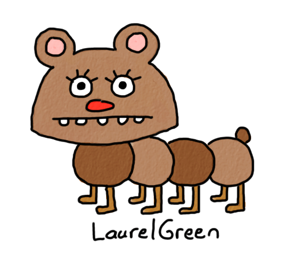 a drawing of a hybrid between a bear and a caterpillar