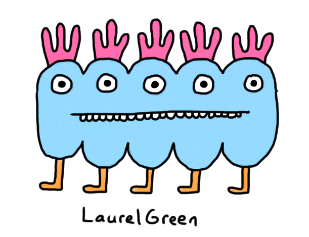 a drawing of a creature with five eyes and legs