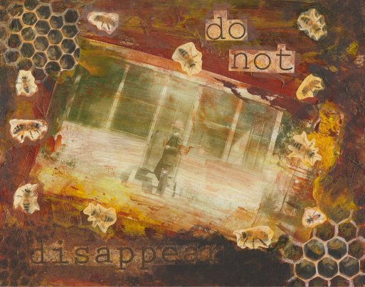 Disappear, 10 x 8 inches, Mixed media on board, Sold