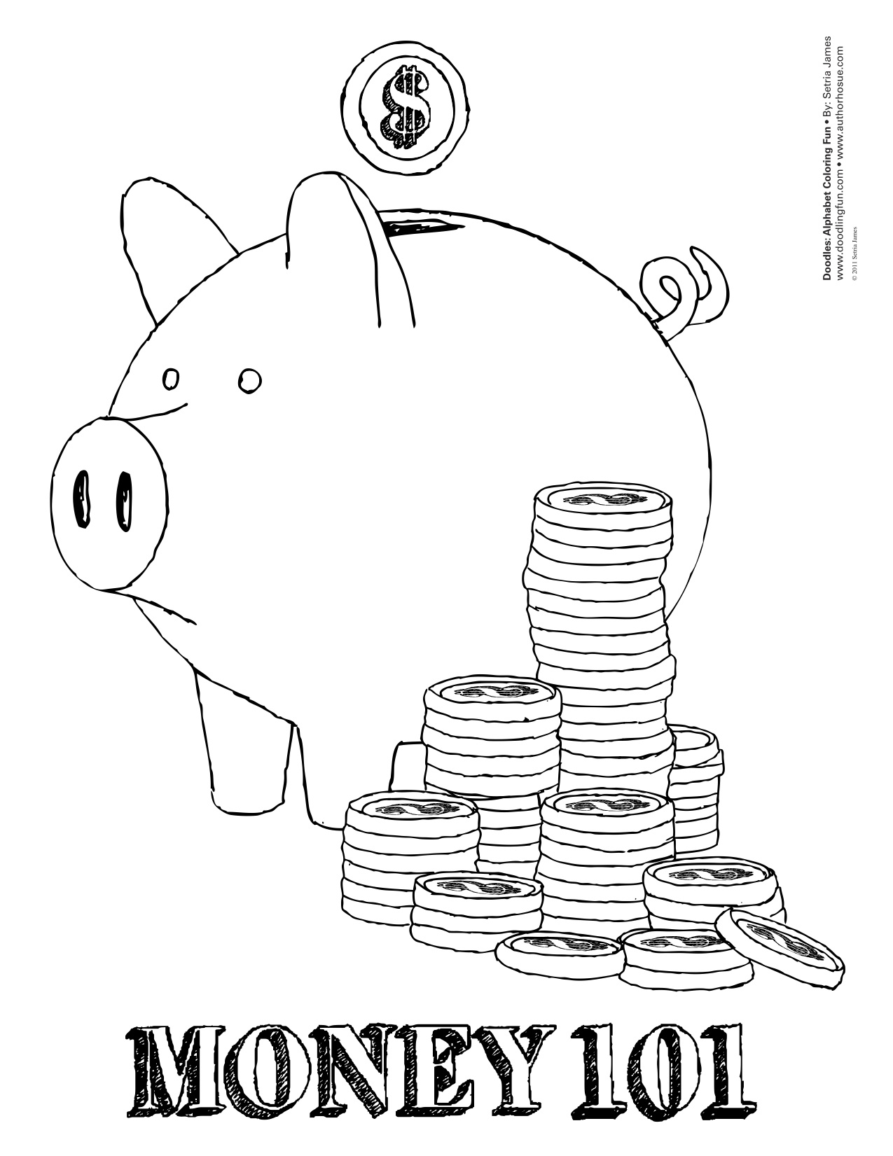 5 Ways To Teach Kids About Money Coloring Sheet