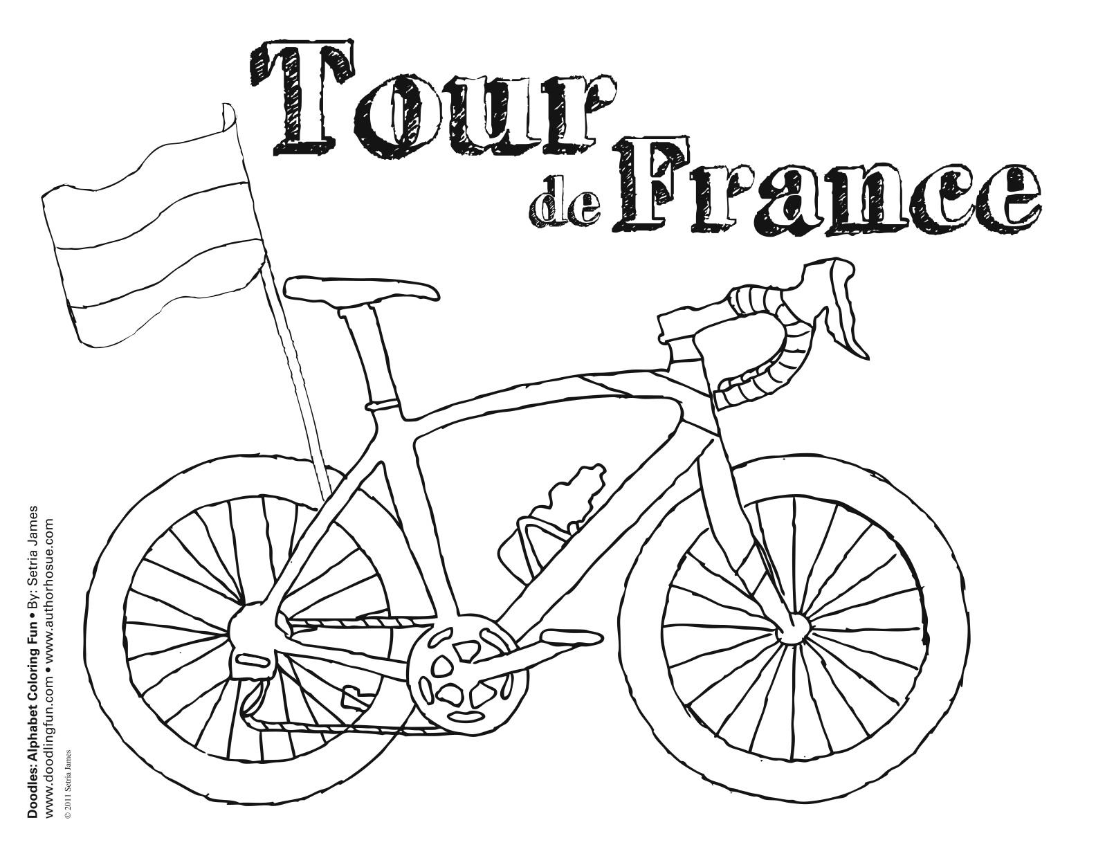 Tour De France Coloring Sheet