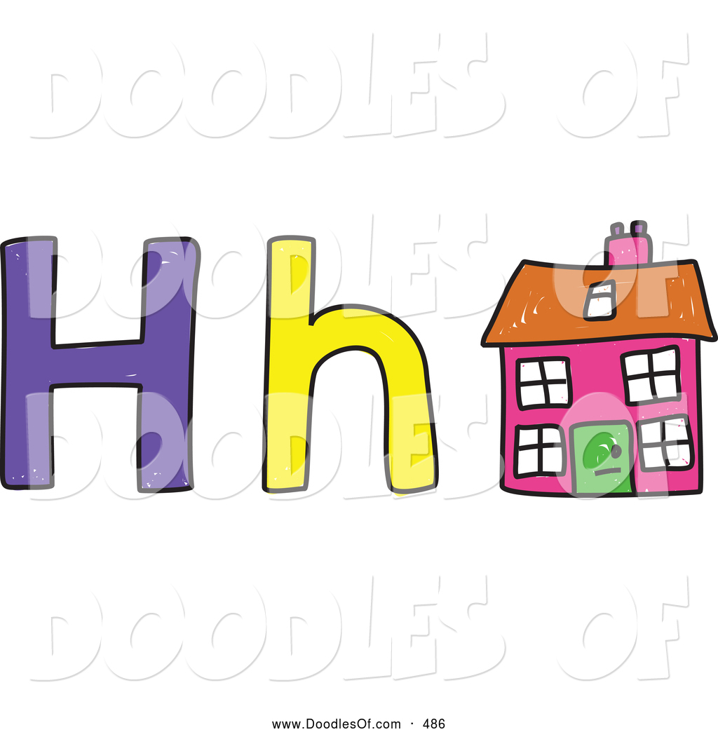 Vector Clipart Of A Capital And Lowercase Letter H With A
