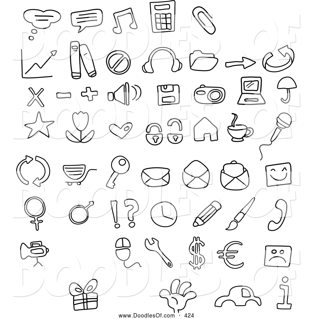 Vector Clipart Of A Digital Collage Of Black And White