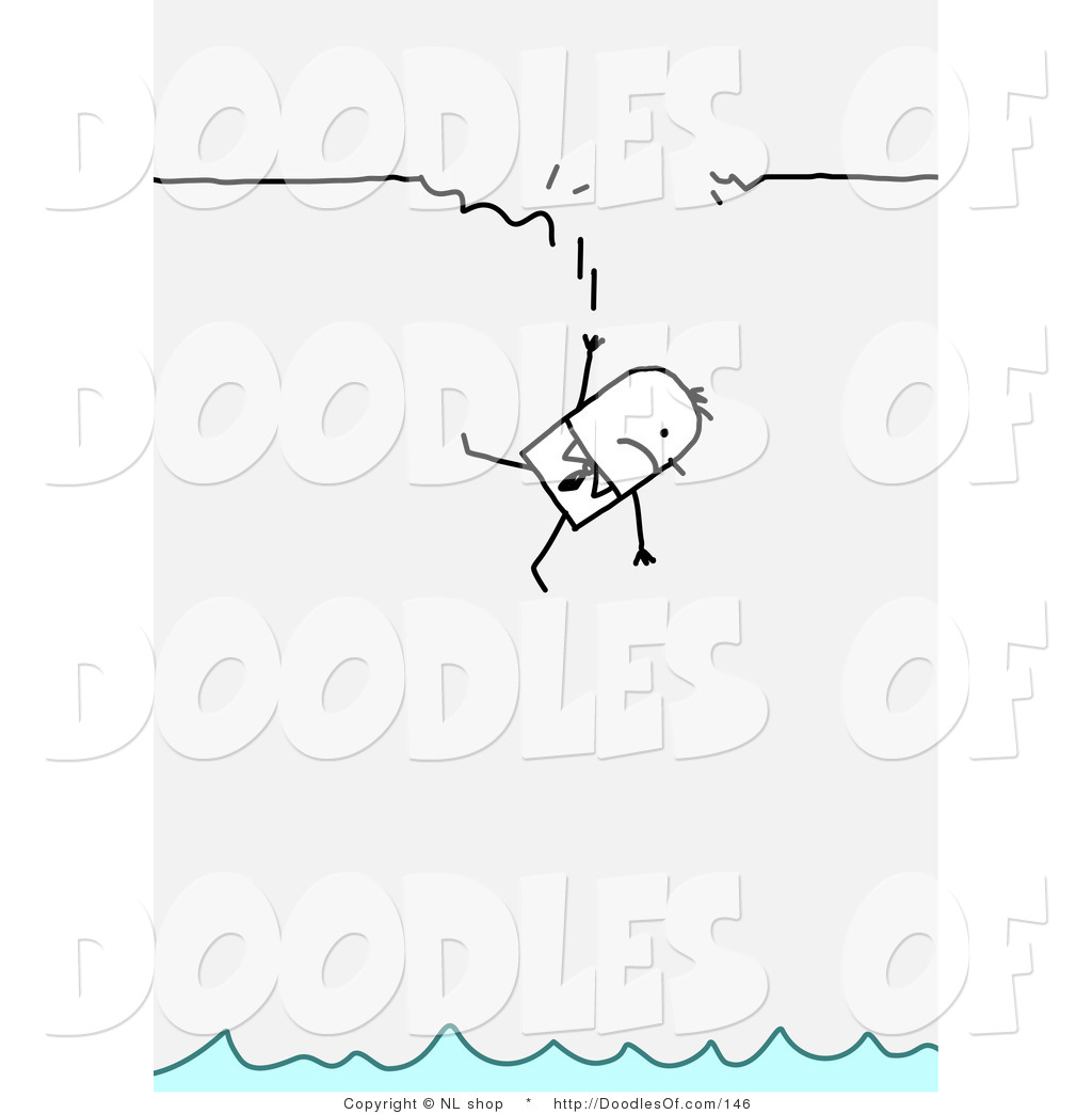 Vector Clipart Of A Stick Figure Person Business Man