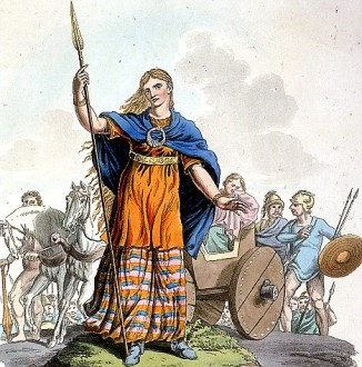 Ilustration of 'Boudica'. A British queen who took on Rome. (C) Mary Evans Used in W/E Issue 9th December 2000