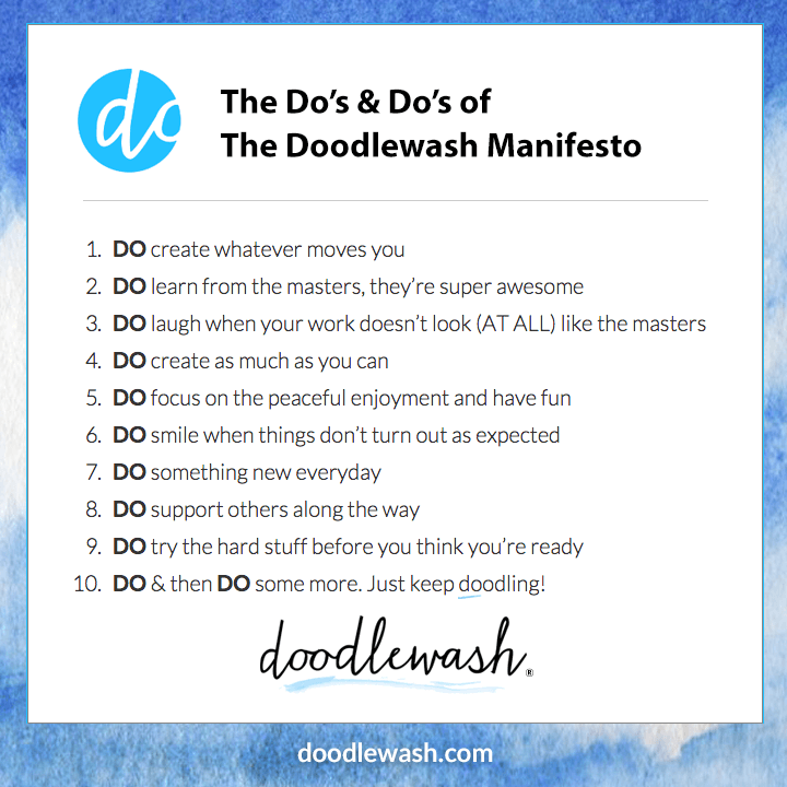The Do's & Do's of The Doodlewash Manifesto