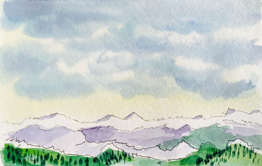 Watercolor Landscape Painting Doodlewash
