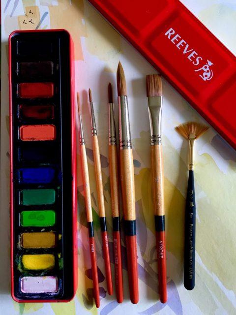 Princeton Snap Brushes and Reeves Watercolor Doodlewash