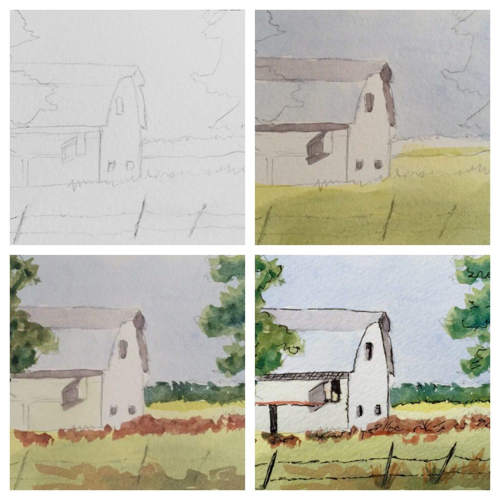 Watercolor Sketching Example 2