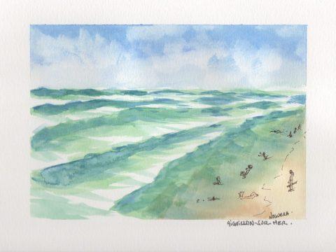 L'Aiguillon-sur-Mer Watercolor by Philippe Noguera Doodlewash