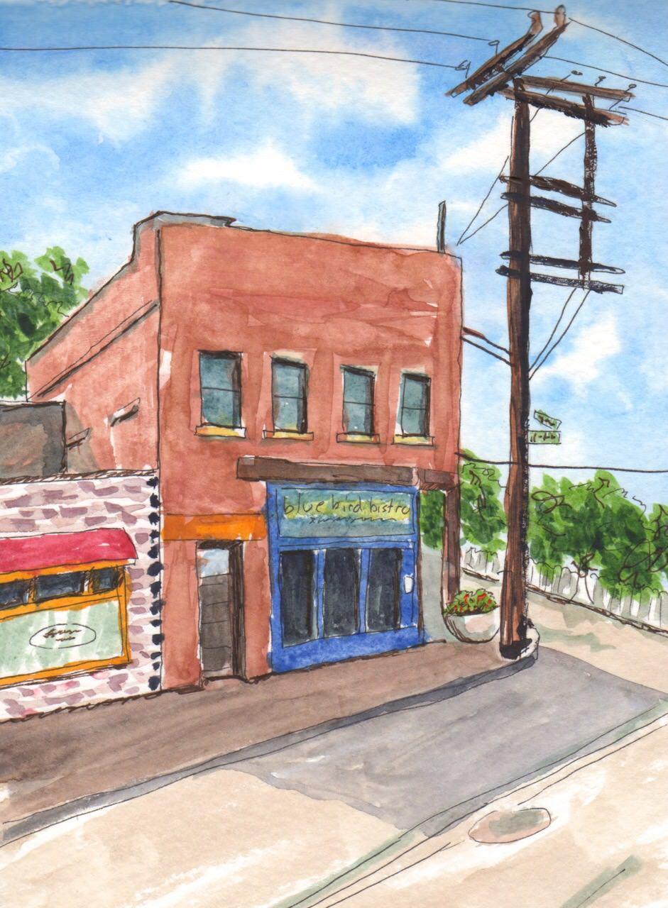 Blue Bird Bistro Kansas City Urban Sketching