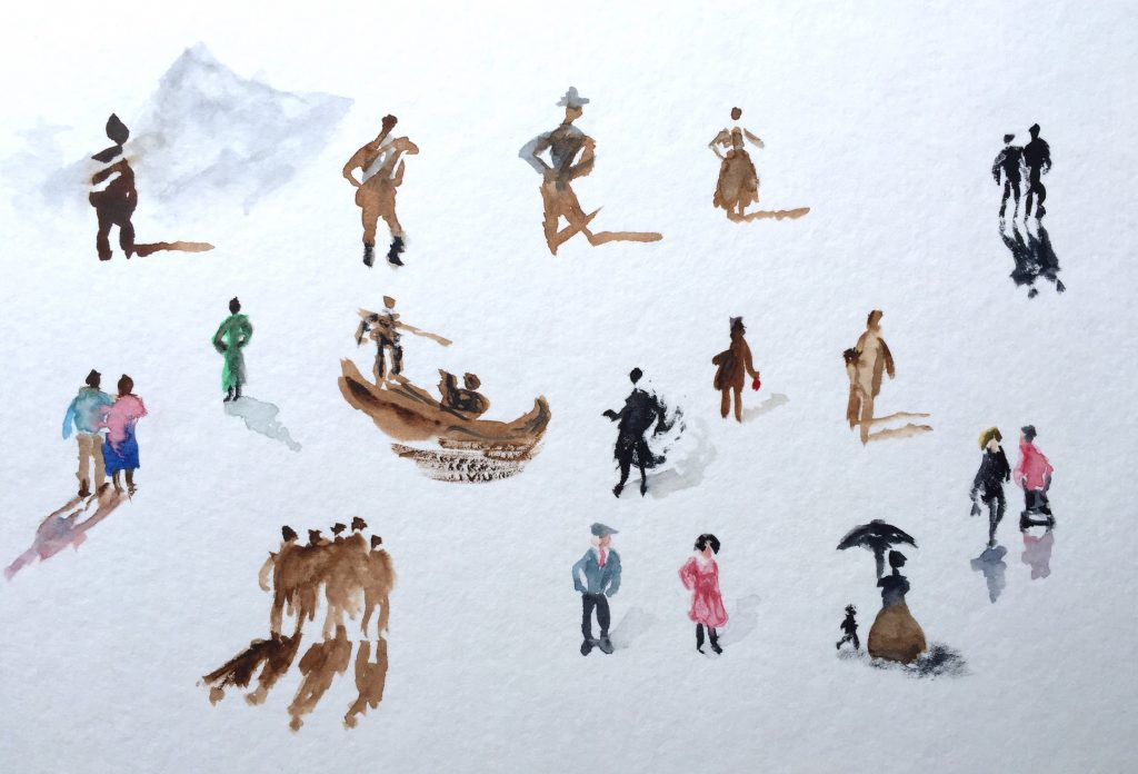 Figures Watercolor Sketching