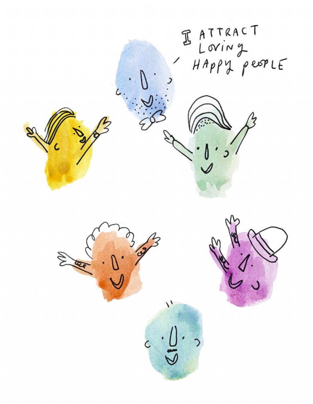 I Attract Happy, Loving People by Theo Carter-Weber