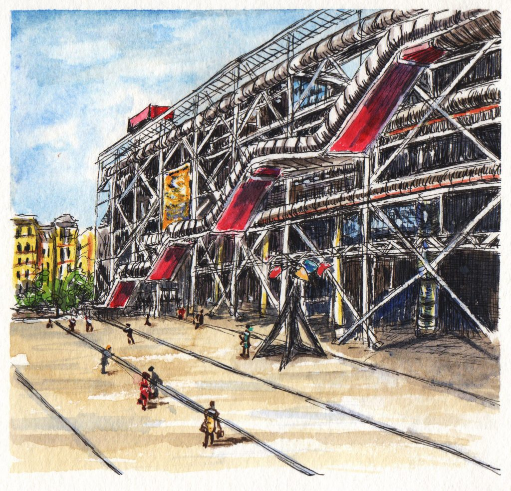 Centre Georges Pompidou by Charlie O'Shields