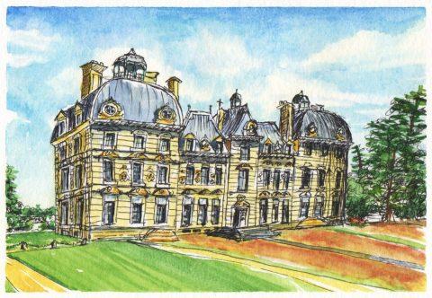 Château de Cheverny Watercolor by Charlie O'Shields