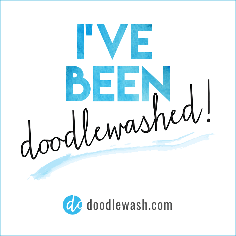 I've Been Doodlewashed Graphic for Guest Doodlewashers of doodlewash.com