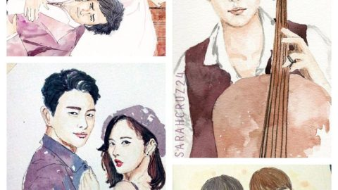 Watercolored People by Sarah Cruz