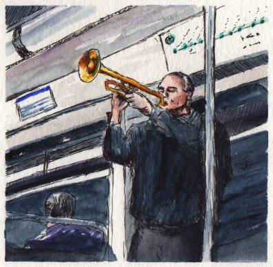 Paris Metro At Night by Charlie O'Shields