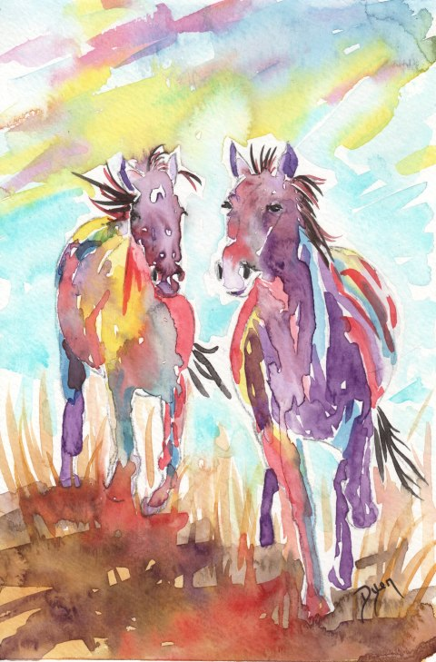Wild Horses by Beverly Dyer