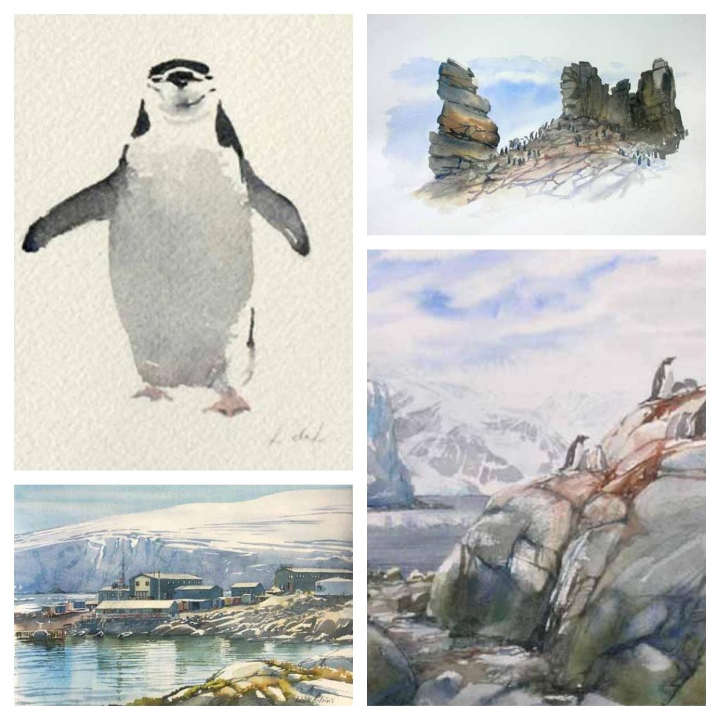 Antarctica Paintings & Sketches by Lucia deLeiris