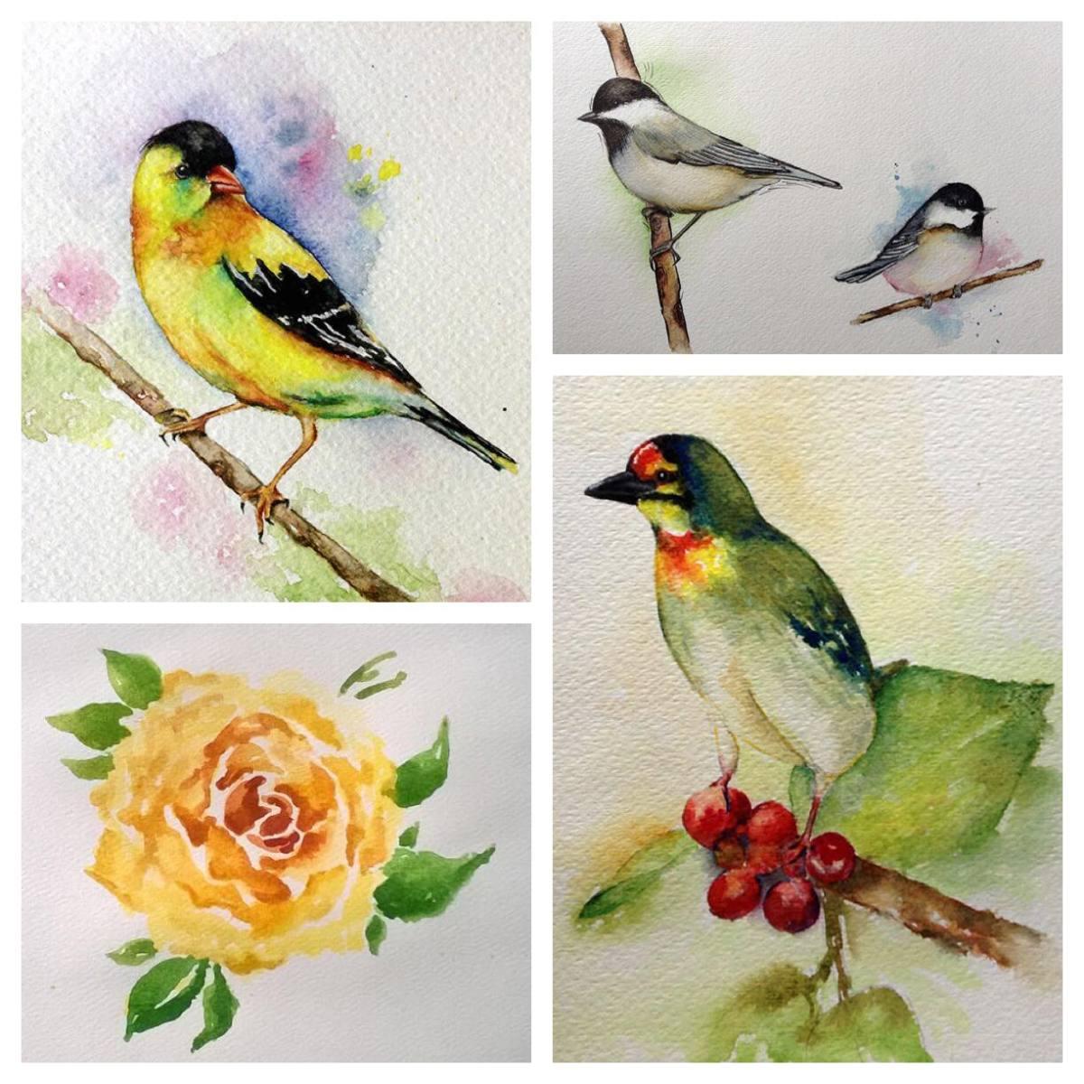 Birds & Flower by Snehal Kank