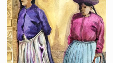Peruvian Women by Sharon Mann