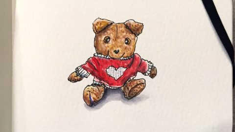 Little Charlie's Bear Watercolor by Charlie O'Shields