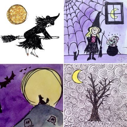 Eileen McKenna Halloween Doodlewashes
