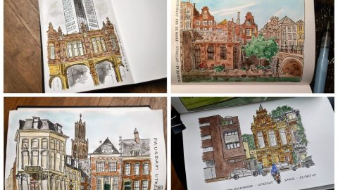 Watercolor Paintings by Sara Schlijper