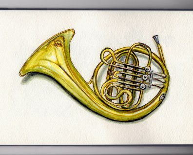 French Horn Doodlewash by Charlie O'Shields