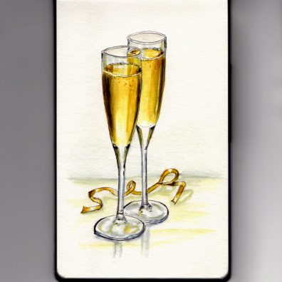 Champagne Glasses Doodlewash