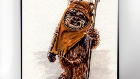Wicket the Ewok - Star Wars - Return of the Jedi - Doodlewash