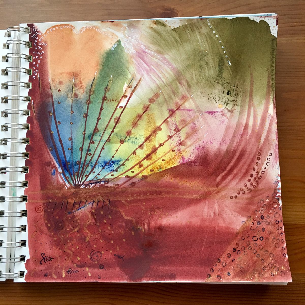 Paint test of M. Graham Watercolor paints by Jessica Seacrest on Doodlewash