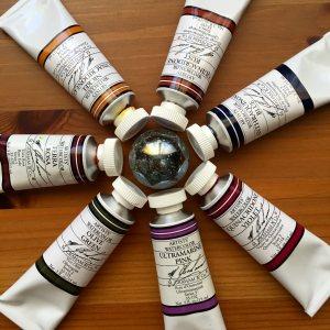 M. Graham circle of paint tubes on Doodlewash