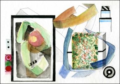 Guest Doodlewash by Edoardo Dispenza - watercolor of art gallery