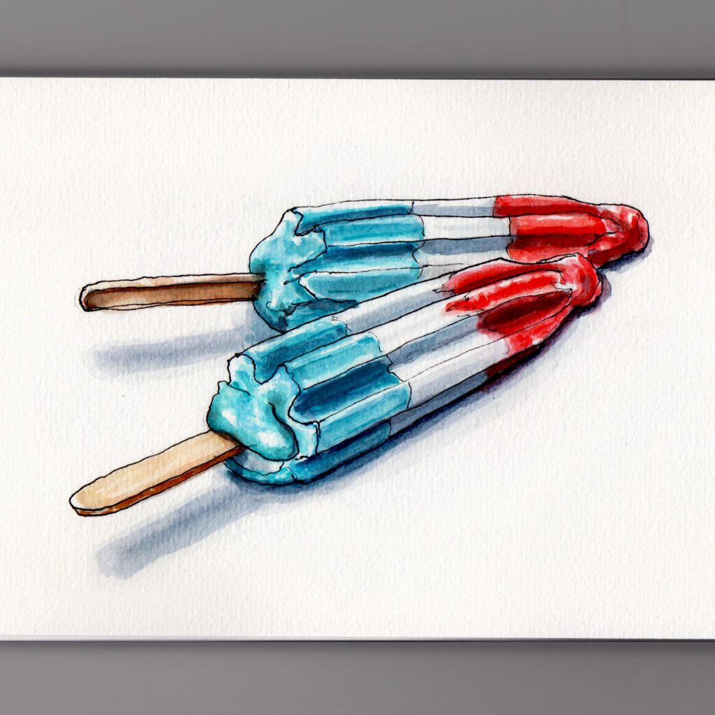Bomb Pops the All-American Treat for Memorial Day frozen red white and blue ice invented in Kansas City, Missouri