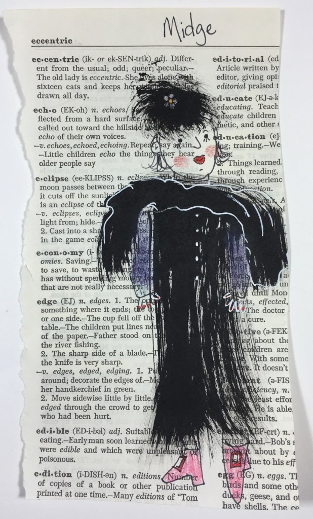Doodlewash Dinner Guest Midge by Jill Kuhn