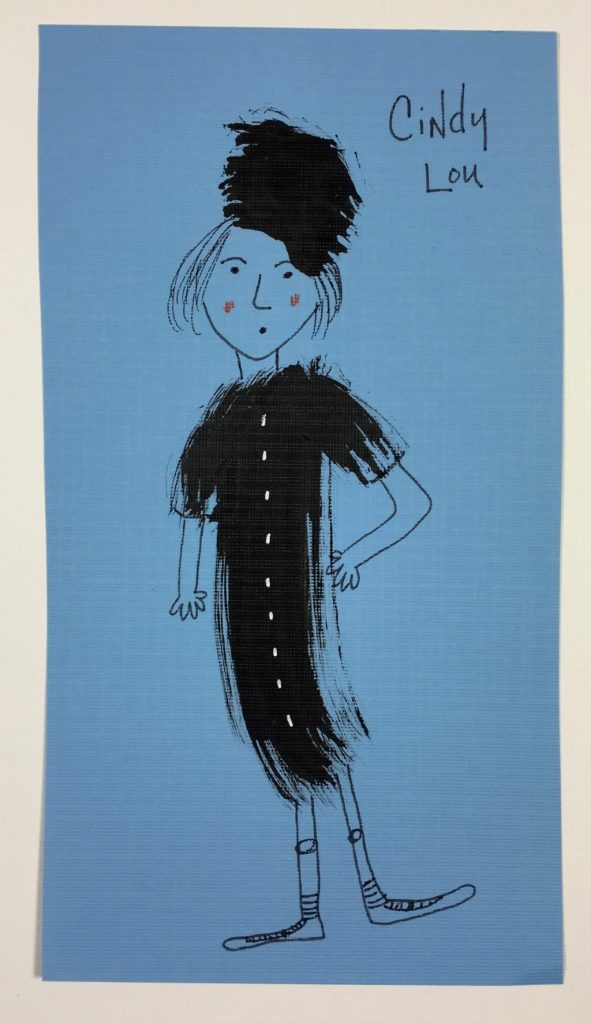 Doodlewash Dinner Guest Cindy Lou by Jill Kuhn