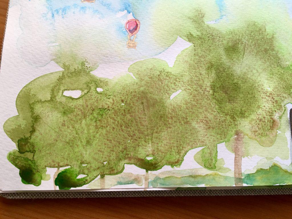 Daniel Smith PrimaTek watercolors Serpentine granulation