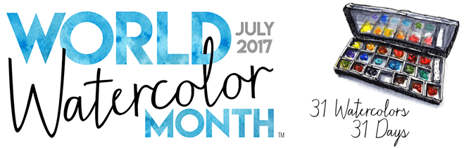 World Watercolor Month July 2017 Header