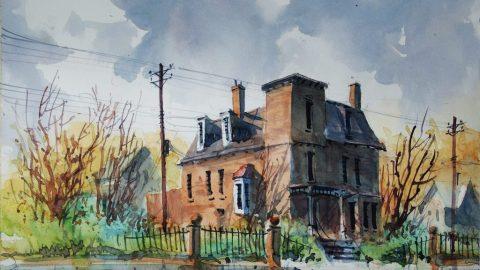 Doodlewash Watercolor Painting by Carsten Wieland - Brush Park 75