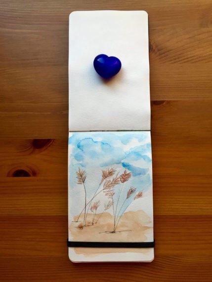 Pocket Moleskin Art Plus Watercolor with watercolour painting