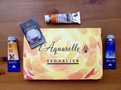 Schmincke, Sennelier, MaimeriBlu watercolor tubes and half pan